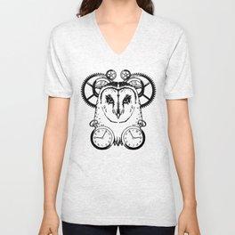 Clockwork Owl Unisex V-Neck