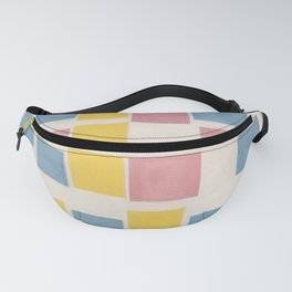 Piet Mondrian Exhibition Art Poster 1986 - Composition with color fields Fanny Pack