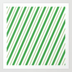 Green Peppermint - Christmas Illustration Art Print