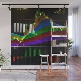 """Сandlestick chart with """"Rainbow"""" indicator Wall Mural"""