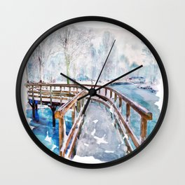 Winter in the Park Wall Clock