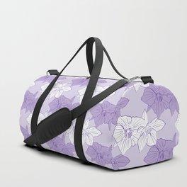 Purple Hellebores Duffle Bag