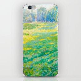 Václav Radimský (1867-1946) On the Dike Colorful Impressionist Landscape Oil Painting iPhone Skin