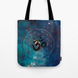 Om & Flower of Life Tote Bag