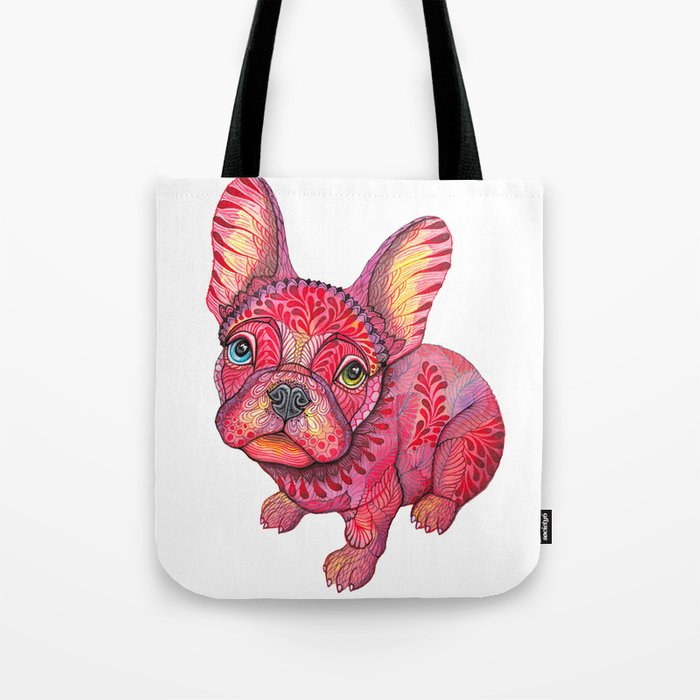 Raspberry frenchie Tote Bag