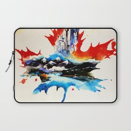 Vintage Canada Maple Leaf Travel Love Watercolor Laptop Sleeve