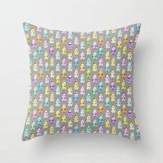Sweet Little Matryoshkas Throw Pillow