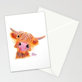 Highland Cow Print, Animal Print ' NESSIE ' by Shirley MacArthur Stationery Cards