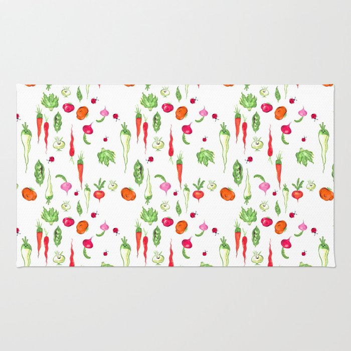 Veggie Party Pattern Rug