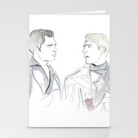 bucky barnes Stationery Cards featuring Steve & Bucky by Christine Ring