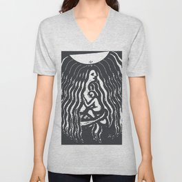 Mother and Son Unisex V-Neck