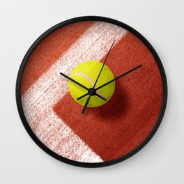 BALLS / Tennis (Clay Court) Wall Clock