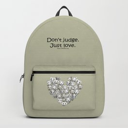 Just Love. (black text) Backpack