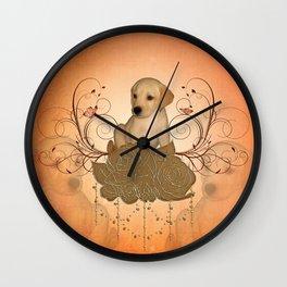 Cute little puppy Wall Clock