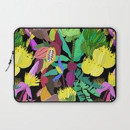 Tropical Fruit Bats in Night Black Laptop Sleeve