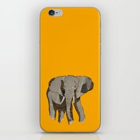 newspaper iPhone & iPod Skins featuring Newspaper Elephant by Doolin