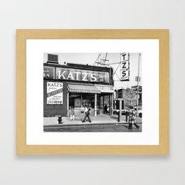 Katzs Deli NYC Framed Art Print
