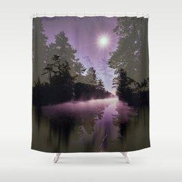 Washago Experiment (Dark) Shower Curtain