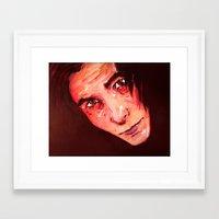 christian schloe Framed Art Prints featuring Christian Bale by AlysIndigo