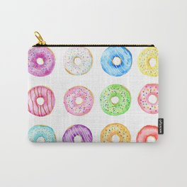 Watercolor Donut Pattern Carry-All Pouch