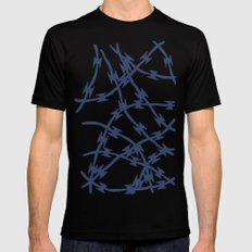 Trapped Navy Mens Fitted Tee MEDIUM Black