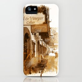 Store Fronts of Leavenworth Bavarian Town, Washington iPhone Case