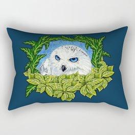 Mister Blue Eyes (Snowy Owl) Rectangular Pillow