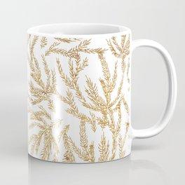 Gold Coral Ferns Coffee Mug