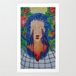 seethrough surreal paint Art Print