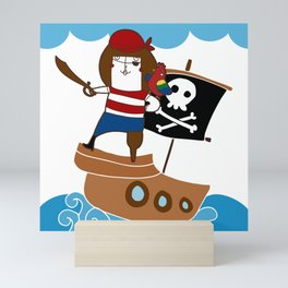 Ahoy captain! Mini Art Print