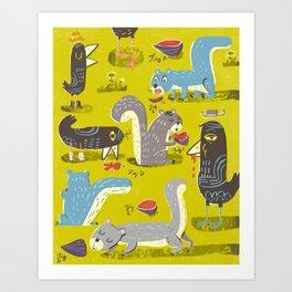 Suburbanites Art Print
