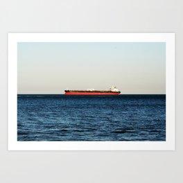 Cargo Ship Seascape Art Print
