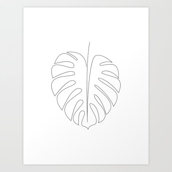 One line monstera by dronathan