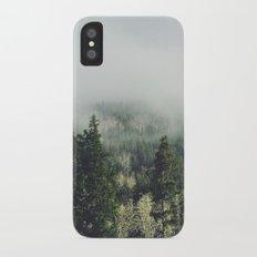 Foggy Treetops Slim Case iPhone X