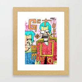 The crappy captains/Champagne scum Framed Art Print