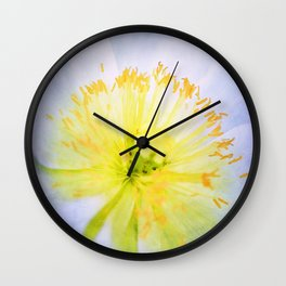 Poppy Close Up Wall Clock