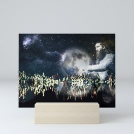 Saving space Mini Art Print