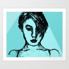 Lady Time Art Print