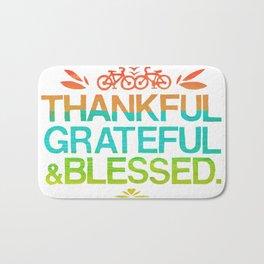 Thankful, Grateful & Blessed 2 Bath Mat
