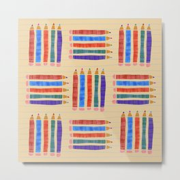 Colored Pencils for back to School Metal Print