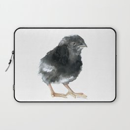 Barred Rock Chick Watercolor Laptop Sleeve