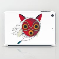 mononoke iPad Cases featuring Mononoke Mask  by Puddingshades