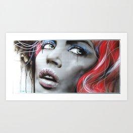 'Bleeding Rose' Art Print