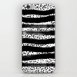Iver - black and white minimal painting abstract art brooklyn trendy urban street city art work  iPhone Skin