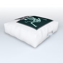 X-ray Cat Outdoor Floor Cushion