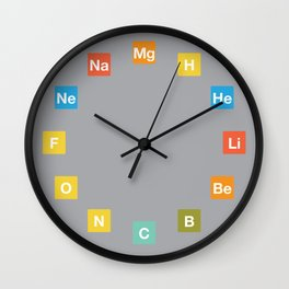 Chemistry Elements Clock Wall Clock