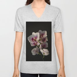 Orchid Branch Unisex V-Neck