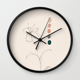 A Floral Palette Wall Clock