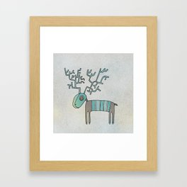 Lost Reindeer Framed Art Print