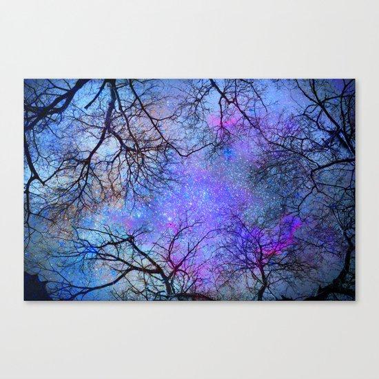 Sky dreams. Serial. Blue Canvas Print